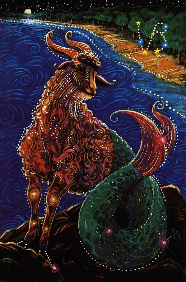 Au tendin     c  tre pesimism   i melancolie  dar cu toate acestea    Capricorn Goat Art