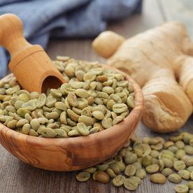 Boabe de cafea verde