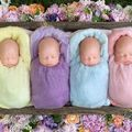 Bebeluşii irezistibili: 4 surioare gemene au devenit vedete pe Facebook