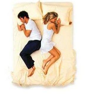 Cuplu in pat, spate in spate