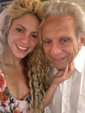 Shakira şi tatăl