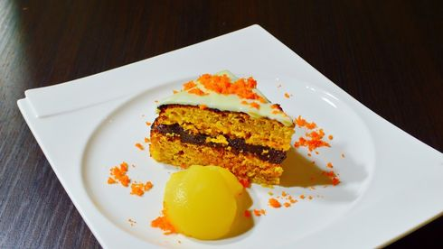 Tort de morcovi by Chef Paul Siserman