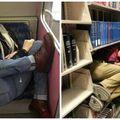 Au adormit pe unde au apucat. Fotografii amuzante cu oameni răpuşi de somn