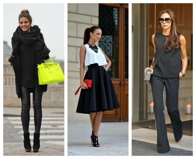 cum sa porti negru in tinute stylish