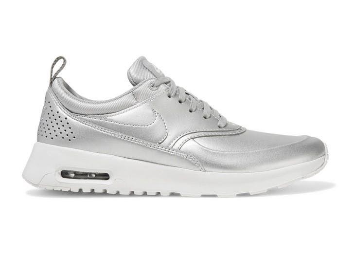 pantofi sport in nuante metalice
