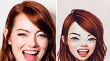 Cum ar arăta vedetele dacă ar fi transformate în personaje din desene animate