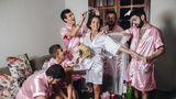 Petrecere ca între fete, dar numai cu băieţi! Cum s-a pregătit de nuntă o mireasă din Brazilia