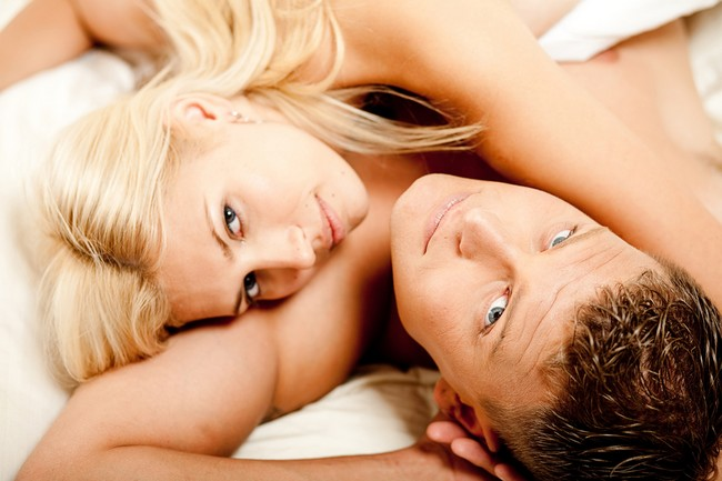 Couple relaxing after the act of sex
