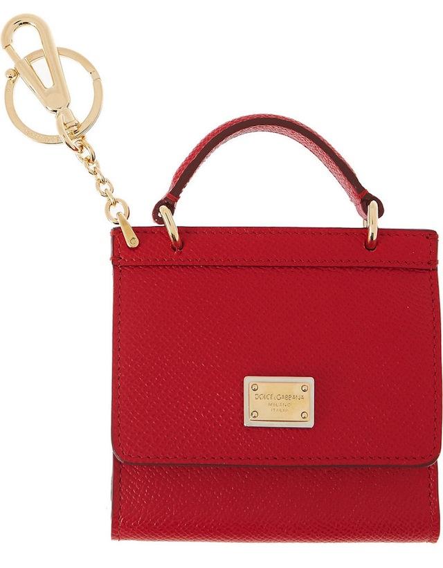 Dolce-Gabbana-Handbag-Keychain-Red