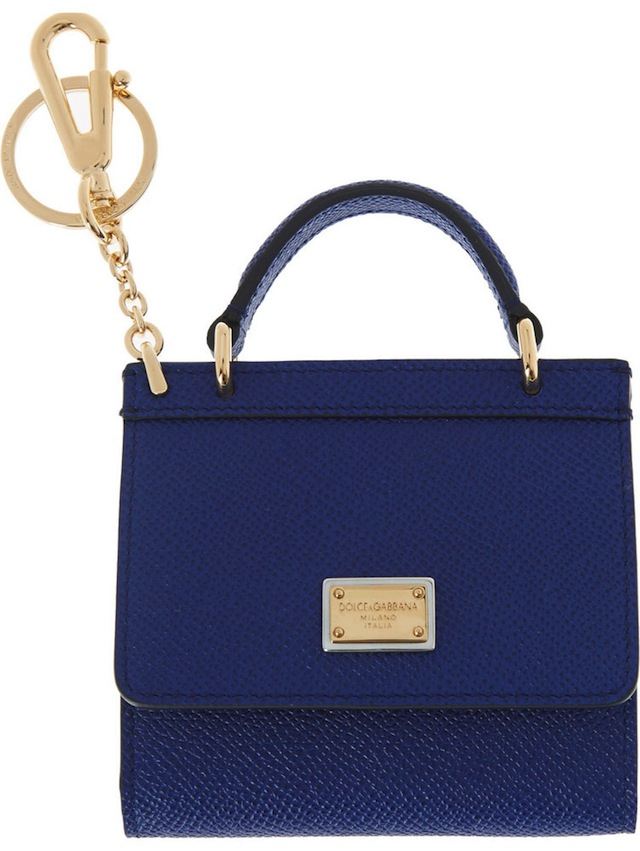Dolce-and-Gabbana-Handbag-Keychain-Blue