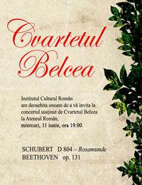 Cvartetul Belcea revine la Bucuresti