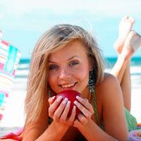 Pe plaja, alege alimentele sanatoase!