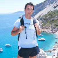 George Trandafir de la radio InfoPro, scufundari la Skiathos