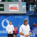 Ilie Nastase si Andrei Pavel au jucat un meci demonstrativ la BCR Open