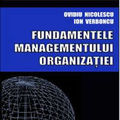 """""""Fundamentele managementului organizatiei"""", de Ovidiu Nicolescu si Ion Verboncu"""