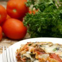 Lasagna vegetariana, cu tofu si spanac