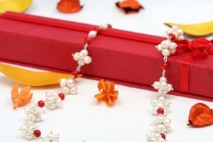 Colier de perle si coral - C 2356K