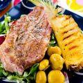 Friptura de porc cu salata de cartofi
