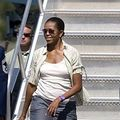 Michelle Obama, in pantaloni scurti