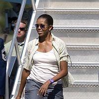 Michelle Obama, in pantaloni scurti