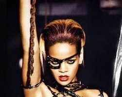 Rihanna face topless