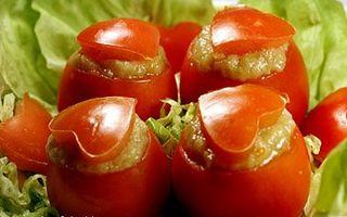 Turnulete cu rosii si vinete (reteta lacto-vegetariana)