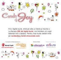 "Heidi Chocolat lanseaza campania de responsabilitate sociala ""Cards of Joy"""
