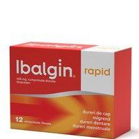 Ibalgin Rapid calmeaza durerea de doua ori mai rapid