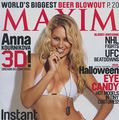 Anna Kurnikova, sexy pe coperta Maxim