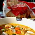 Supă cremă de dovleac cu piept de pui
