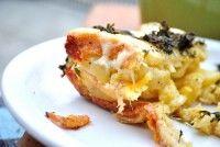 Cartofi gratinaţi pe pat de pâine