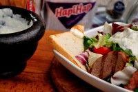 Salată cu porc fript şi alioli