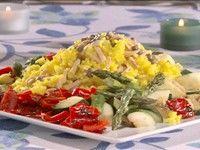 Legume la grătar cu orez şi curry