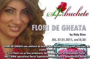 Atelier de arta florala - Flori de gheata By Superbuchete