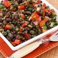 Salată de linte, pătrunjel şi sfeclă roşie