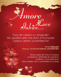 Targ de cadouri cu dragoste de Valentine's Day