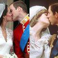 Sărutul: Comparaţie între William şi Kate, Charles şi Diana