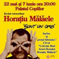 """Lansare """"Mari Actori Români"""" şi recital Horaţiu Mălăele - """"Sunt un orb"""""""