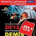 """Zilele acestea, biletele pentru concertul """"Demis Roussos"""" sunt mai ieftine!"""