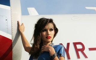 Un avion privat de 20 de milioane de euro pentru noua colecţie semnată Mirela Stelea