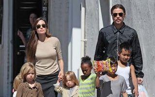 Angelina Jolie şi Brad Pitt şi-au enervat copiii