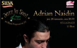 Un violoncel și mai multe povești: concert de jazz cu Adrian Naidin la Papa la Șoni