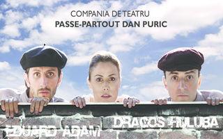 """Compania Pass Partout - Dan Puric va invita la spectacolele """"Toti cinci"""" si """"România. Inschis pentru inventar"""", la Teatrul de pe Lipscani"""