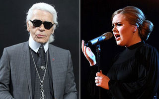 Adele îi dă peste nas lui Karl Lagerfeld
