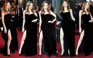 Hollywood: Piciorul Angelinei Jolie, vedeta premiilor Oscar 2012