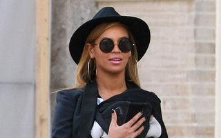 Beyonce a ieșit cu fetița la plimbare
