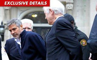 George Clooney a fost arestat la Washington