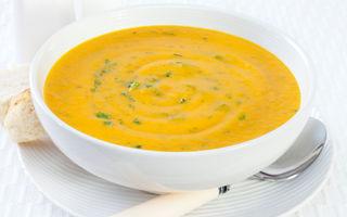 Supă rece cu morcovi şi ghimbir