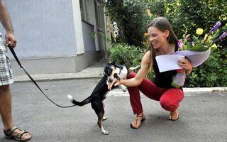 Hilary Swank, vizită-fulger în România