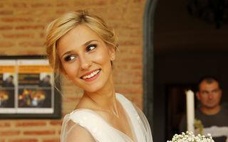Dana Rogoz, în rochie de mireasă